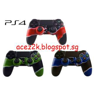 [BN] PS4 Controller Camouflage Silicone Cover Skin (Brand New)