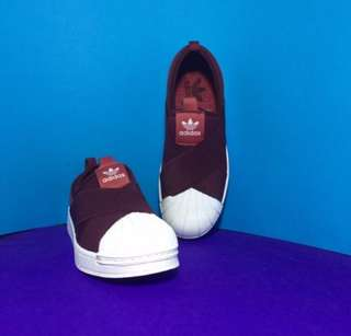 Adidas Superstar Slip On Maroon