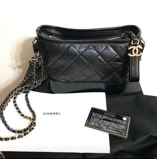 Chanel hobo small size black color