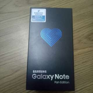 Samsung Galaxy Note FE Black New SME Set