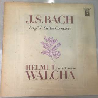 Helmut Walcha, Bach English Suites Complete, Japan Press 2x Vinyl LP, Angel/EMI - AA8823-4, no OBI