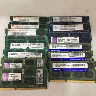 Laptop DDR3  DDR3L 4GB &  8GB Rams