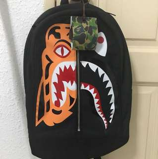 Bape Shark Tiger backpack