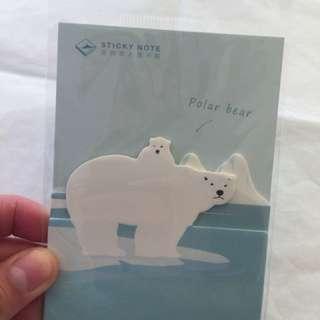 北極熊 大小熊 便利貼 memo pack polar bear