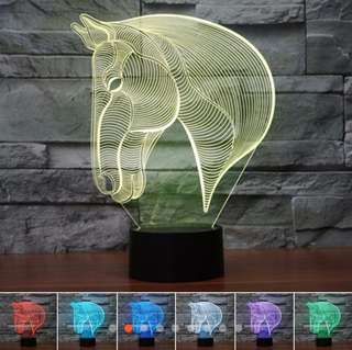 Horse Head 3D illusion LED Lamp (7 Different Colors)