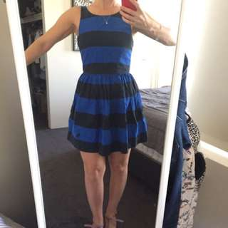 Fun full short stripy dress