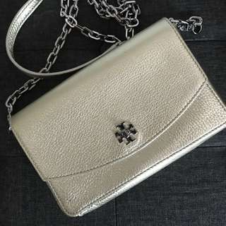 TORY BURCH- Metallic crossbody Mercer Classic