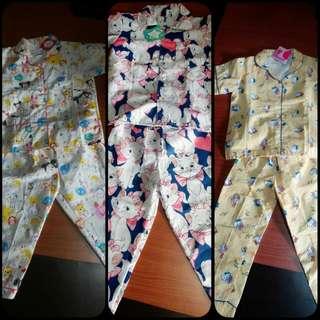 100rb 3pcs Baju Piyama Tangan Pendek D Jual Murah
