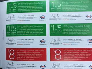 Sembawang Esso fuel voucher @ $0.50 onwards