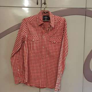 <H&M> Red Checkered Long Sleeves for Men