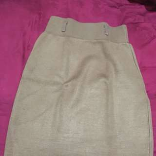 MIDI SKIRT BROWN