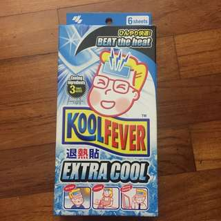 Kool fever 6 pieces sheets - brand new