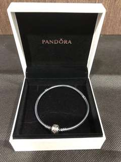Brand new authentic Pandora oxidized silver clasp Bracelet