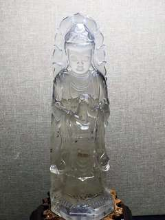 [natural white crystal guanyin]
