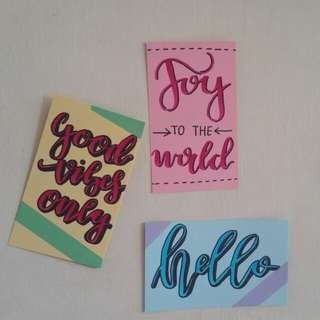 Calligraphy Cards