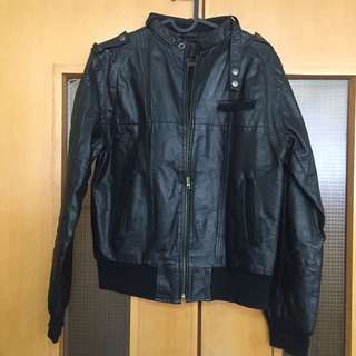 Leather Jacket 真皮外套 肩46cm 腰40寸