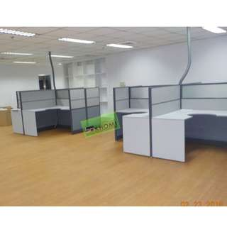 cubicles - office furniture - partition (( L-shape ))