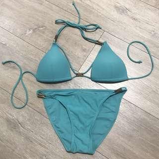 Sycamore Swimwear Triangle Bikini with Gold Hardware
