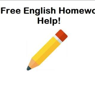 FREE English homework help