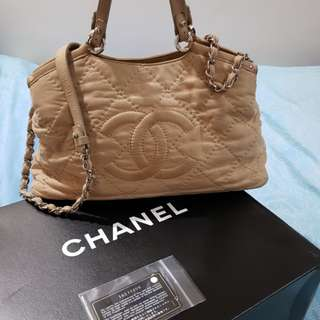 Chanel Sea Hit Tote Quilted Iridescent Calfskin Small