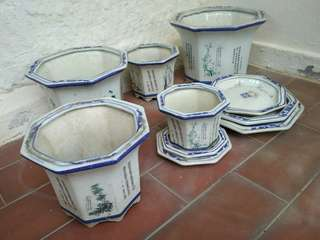 Chinese porcelain flower pots