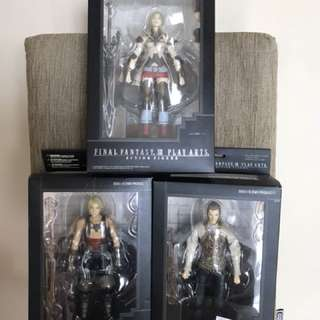 Play Arts Final Fantasy XII Figures Vaan Ashe Balthier Set of 3