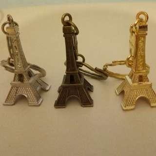 Paris France Eiffel Tower Keychain