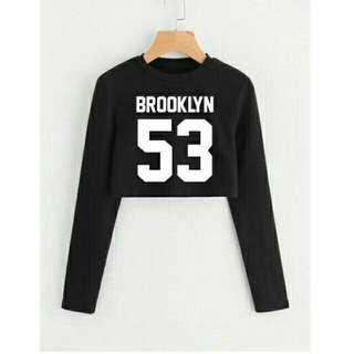 Sweater crop brooklyn pjg daru