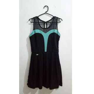 Black/Turquoise Dress