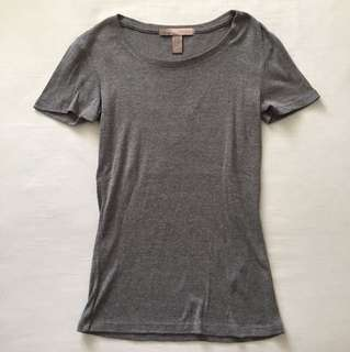 Forever 21 Contemporary Basic Minimalist Tee Top (Heather Grey)
