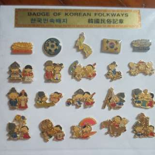 Pin badges from Korea
