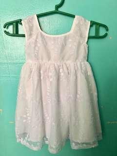Simple white christening dress