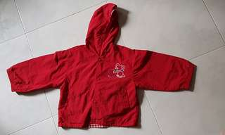 Girl red colour jacket
