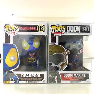Deadpool & Doom Pop Set