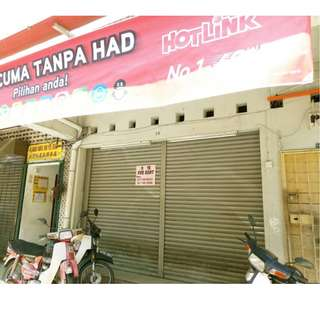 Menglembu Tranchell Street Ground Floor Shop Lot for rent