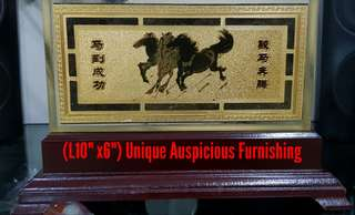 Unique Auspicious Furnishing Golden Horse