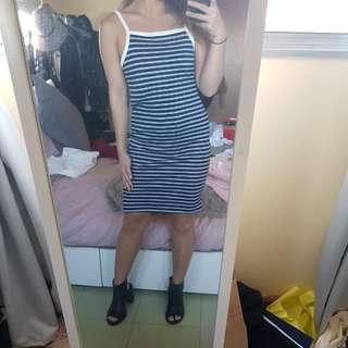 Bardot Stripey Knit Dress Summer