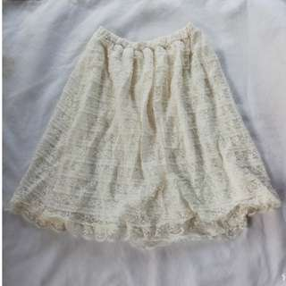 White brocade skirt