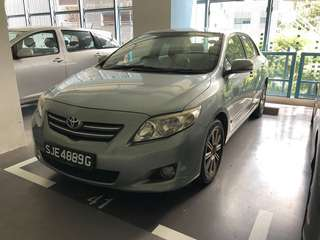 Toyota Altis for Rental short term 1 month only