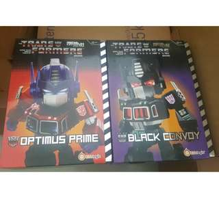 Kids Logic MN01 & 02 Optimus Prime and Black Convoy Brand New sealed Authentic Transformers