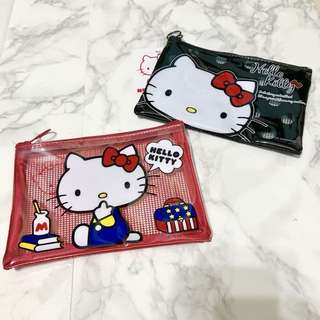 Restocked! ❤️🖤Most adorable Japan Sanrio Hello Kitty Plastic Mesh Pouch Holder