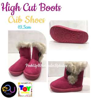 High Cut Boots Pink
