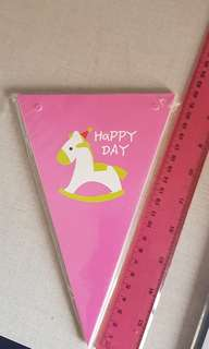 Party banner pink