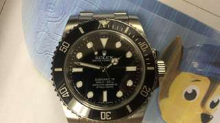 ROLEX 114060 2015 藍光亂碼淨錶 11格 95新 無打磨過 歡迎上行交收+800