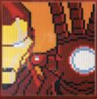 Lego Marvel Iron Man Mosaic (48x48 base plate)