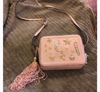 Aldo Yoisa Pink Star Bag Preloved Original