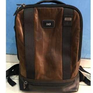 Tumi Alpha Bravo Dover Leather Brown Backpack Original