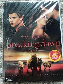 DVD The Twilight saga Breaking Dawn part 1
