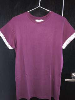 Plain Maroon Topman Shirt