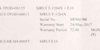 Tripod Sirui T-1204x + E10 ball head
